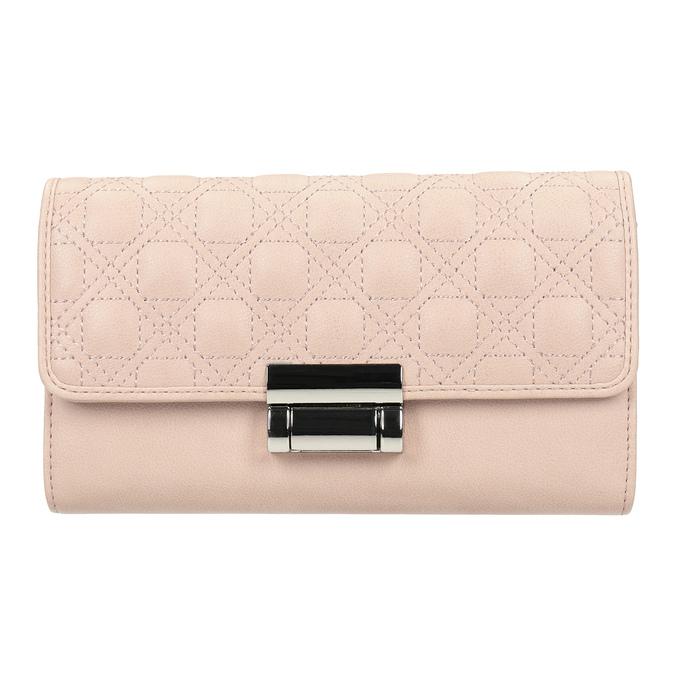 Różowy portfel damski zprzeszyciami bata, 941-9169 - 26