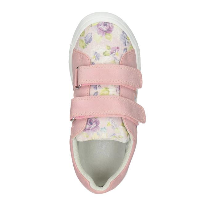 Różowe trampki dziewczęce wdeseń mini-b, 221-5215 - 15