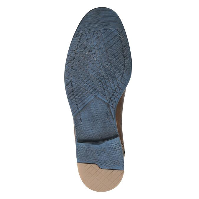 Brązowe skórzane półbuty wnieformalnym stylu bata, brązowy, 826-4929 - 17