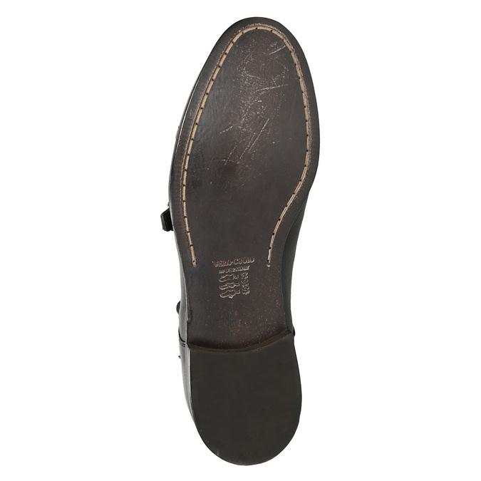 Czarne skórzane monki bata, czarny, 824-6730 - 19