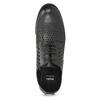 Półbuty damskie zwyraźną perforacją bata, czarny, 521-6610 - 17