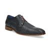 Granatowe skórzane półbuty zfakturą bata, niebieski, 826-9825 - 13
