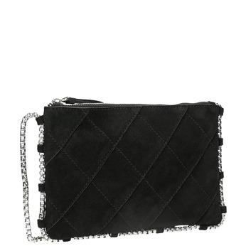 Skórzana torebka zpikowaniem bata, czarny, 963-6193 - 13
