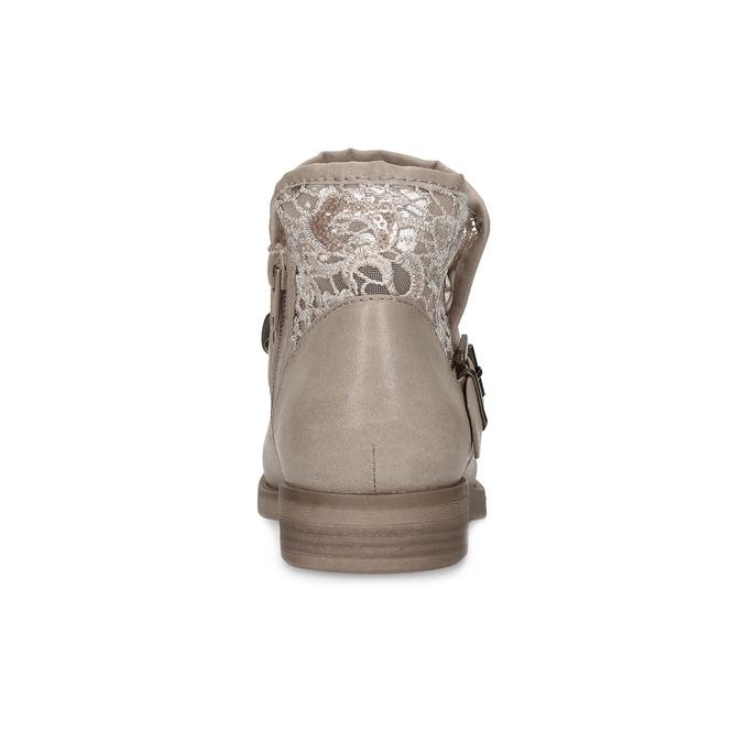 Kozaki damskie zkoronką bata, szary, 591-2628 - 15