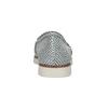 Srebrne skórzane obuwie typu slip-on flexible, 536-1604 - 15