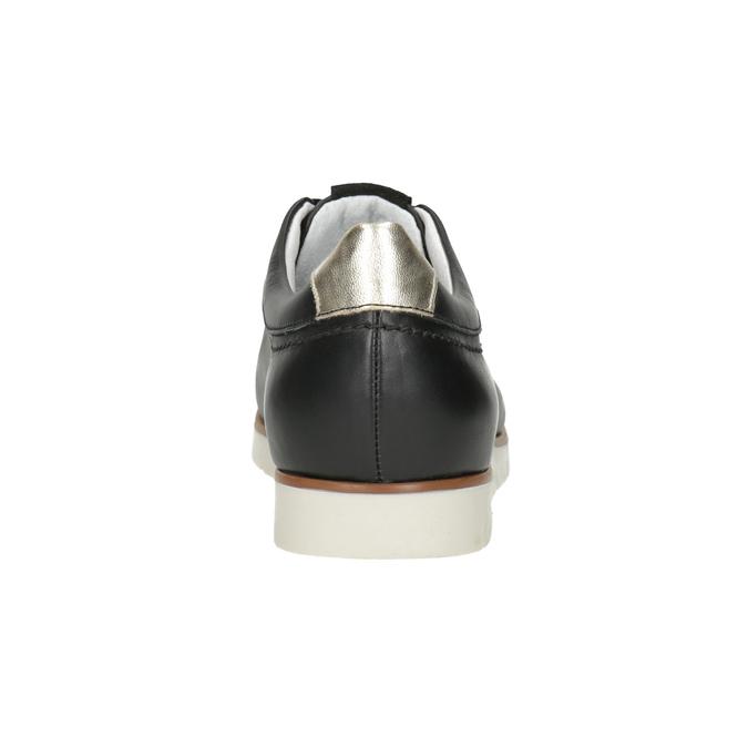 Nieformalne skórzane półbuty damskie flexible, czarny, 546-6614 - 15