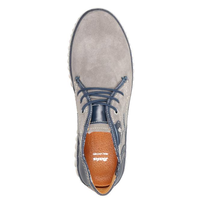 Męskie buty za kostkę bata, szary, 843-2633 - 17
