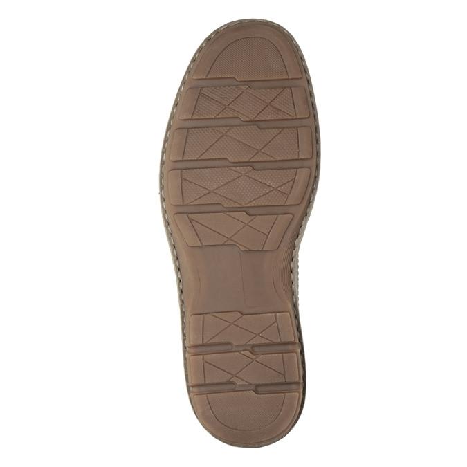 Brązowe skórzane półbuty męskie bata, brązowy, 826-4654 - 19