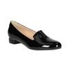 Loafersy damskie na niskich obcasach bata, czarny, 511-6608 - 13