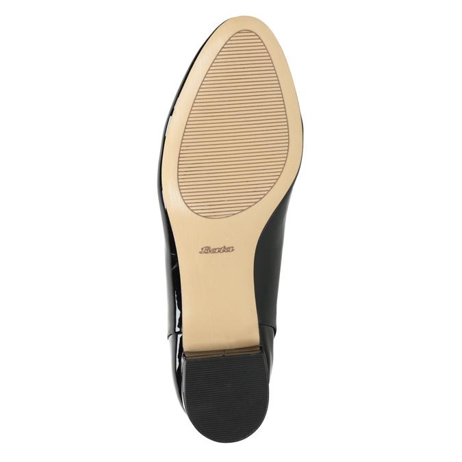 Loafersy damskie na niskich obcasach bata, czarny, 511-6608 - 17