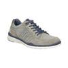 Skórzane trampki męskie bata, szary, 846-2639 - 13