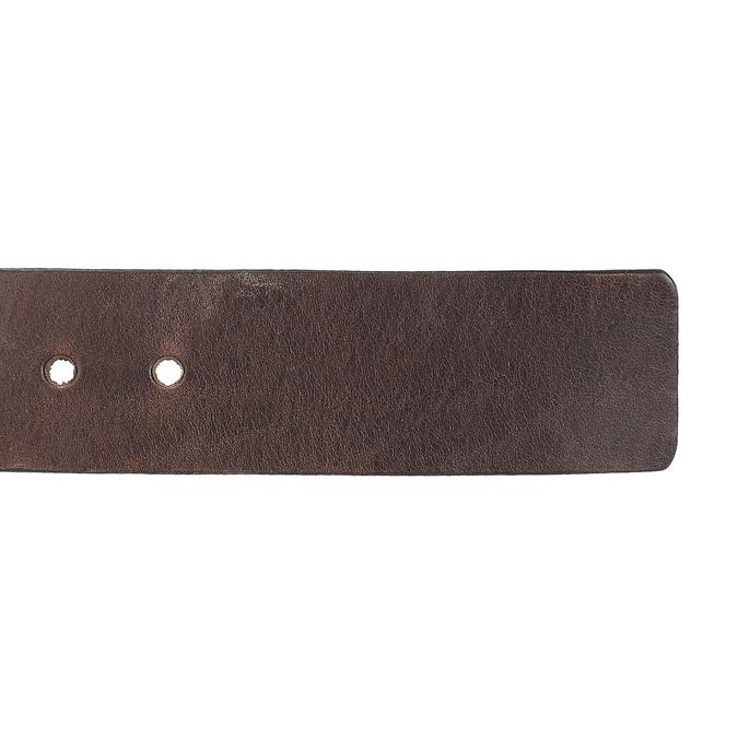 Brązowy skórzany pasek męski bata, brązowy, 954-4205 - 16