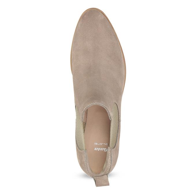 Skórzane obuwie damskie typu chelsea bata, 593-8614 - 17