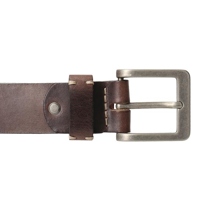 Brązowy skórzany pasek męski bata, brązowy, 954-4205 - 26