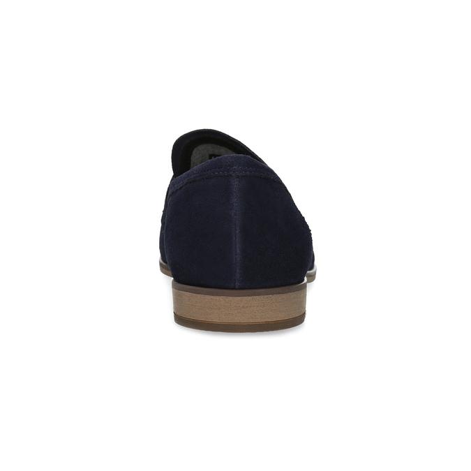 Granatowe mokasyny wstylu penny loafersów vagabond, niebieski, 813-9053 - 15
