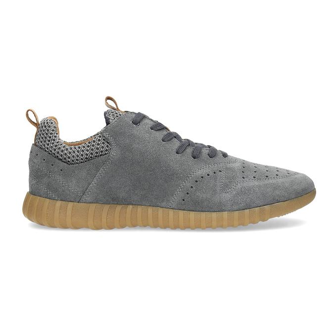 Szare zamszowe trampki męskie bata, szary, 843-2634 - 19