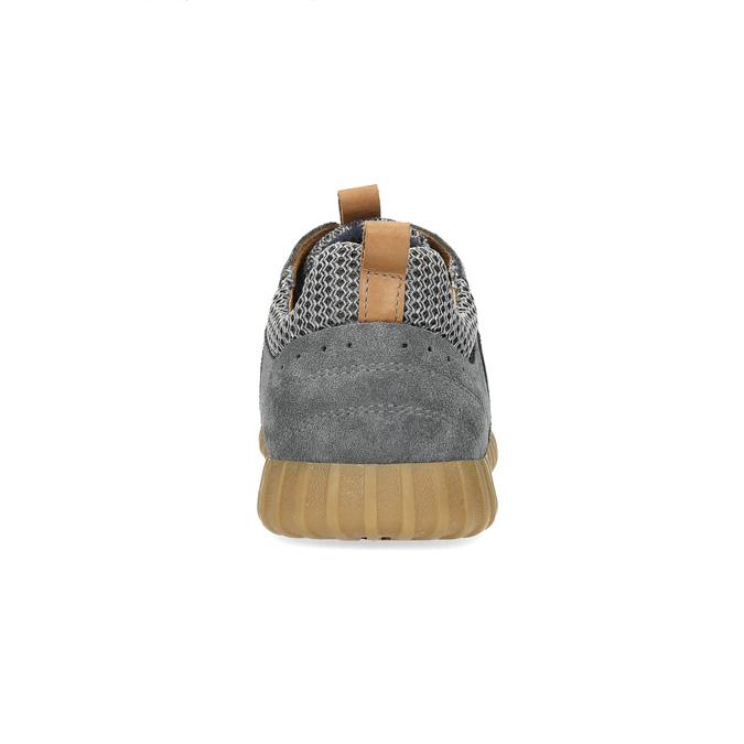 Szare zamszowe trampki męskie bata, szary, 843-2634 - 15