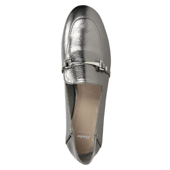 Srebrne mokasyny zwędzidłami bata, srebrny, 511-1609 - 15