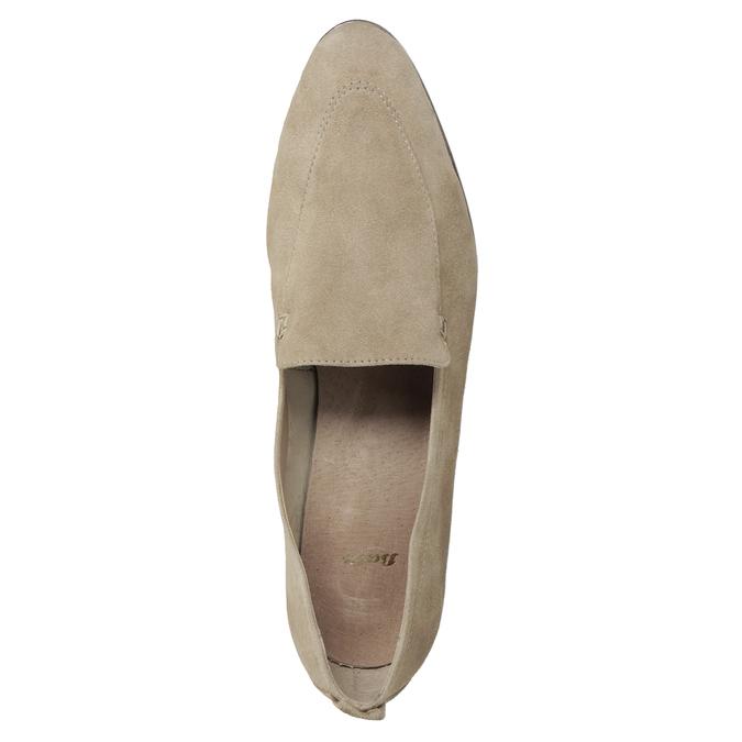Nieformalne zamszowe mokasyny bata, brązowy, 516-4618 - 17