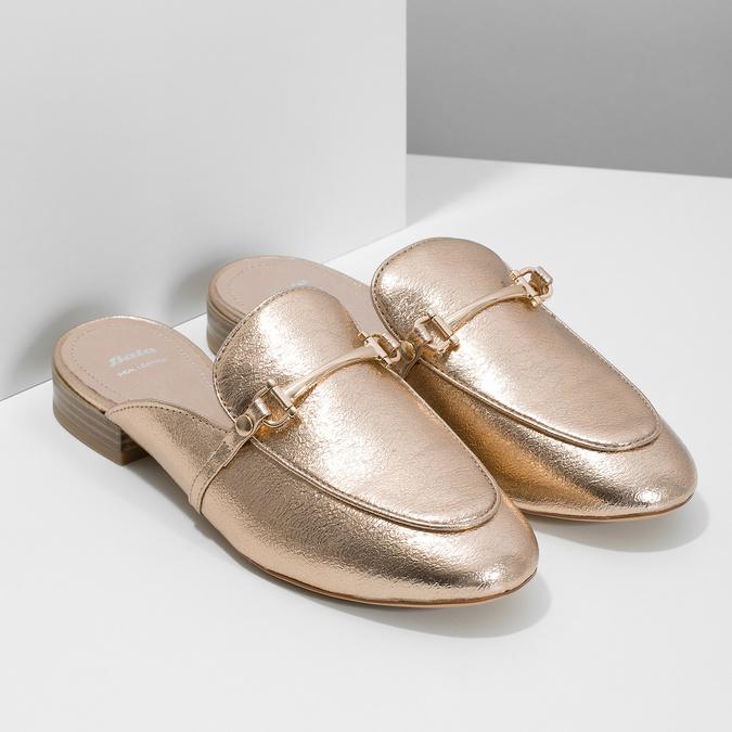 Klapki damskie zwędzidłami bata, złoty, 511-8609 - 26
