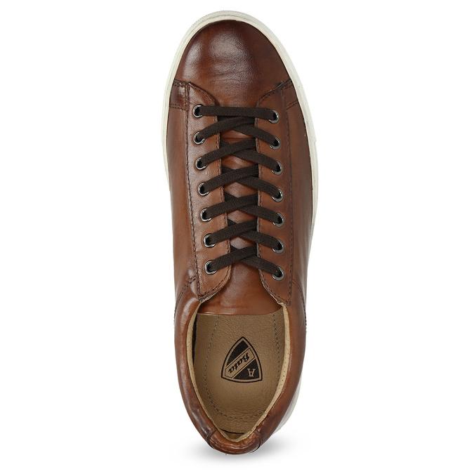 Skórzane trampki męskie bata, brązowy, 846-4648 - 17