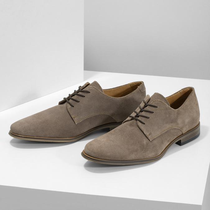 Angielki męskie zperforacją bata, brązowy, 823-8616 - 16