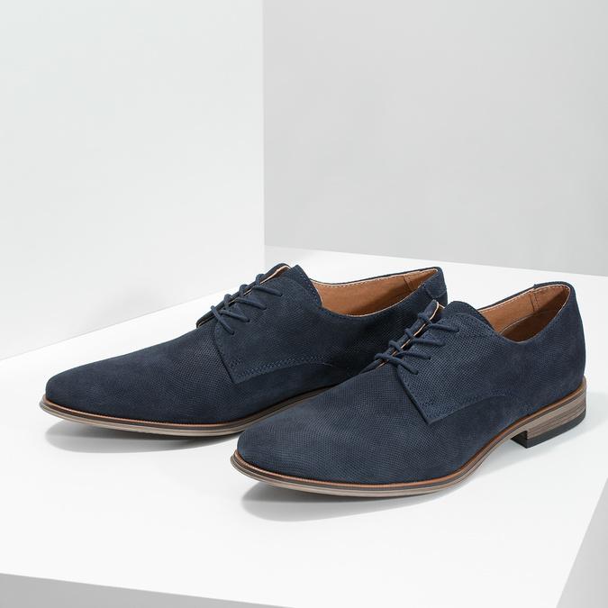 Niebieskie półbuty męskie bata, niebieski, 823-9616 - 16