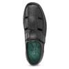 Skórzane sandały męskie pinosos, czarny, 864-6626 - 17