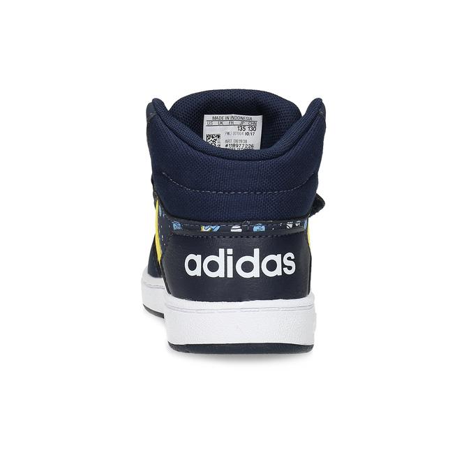Niebieskie trampki chłopięce za kostkę adidas, niebieski, 101-9125 - 15