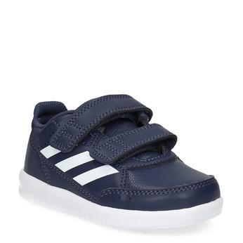 Granatowe trampki na rzepy adidas, niebieski, 101-9151 - 13
