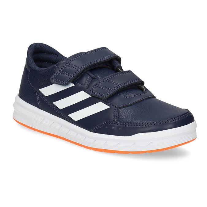 Granatowe trampki dziecięce na rzepy adidas, niebieski, 301-9151 - 13