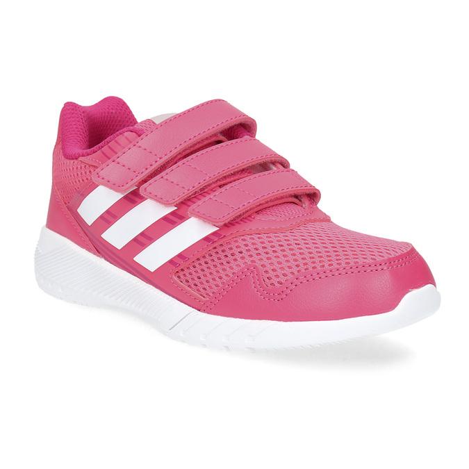 Różowe trampki na rzepy adidas, różowy, 309-5148 - 13