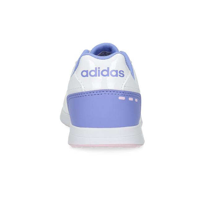 Białe trampki dziewczęce zróżowymi detalami adidas, biały, 401-1181 - 15