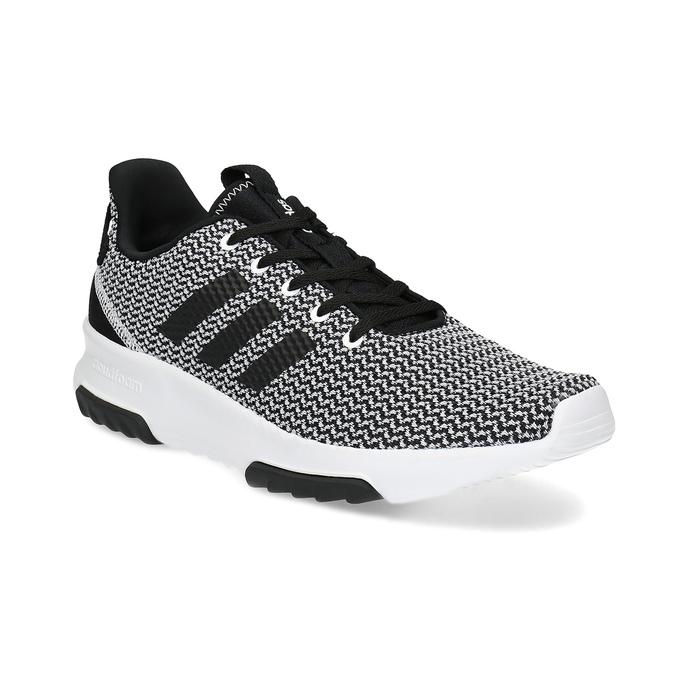 Czarno-białe trampki zwzorzystej dzianiny adidas, czarny, 809-1101 - 13