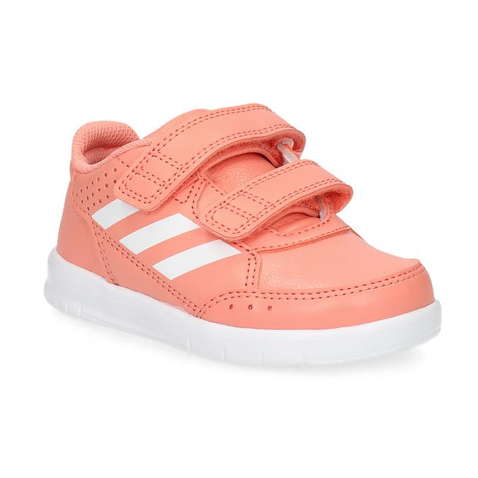 Różowe trampki dziewczęce na rzepy adidas, różowy, 101-5151 - 13