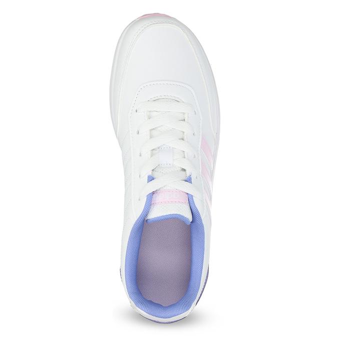Białe trampki dziewczęce zróżowymi detalami adidas, biały, 401-1181 - 17