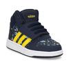 Niebieskie trampki chłopięce za kostkę adidas, niebieski, 101-9125 - 13