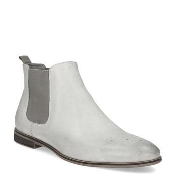 Skórzane obuwie damskie typu chelsea bata, biały, 596-1684 - 13