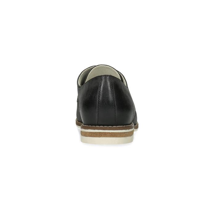 Skórzane półbuty damskie bata, czarny, 526-6650 - 15
