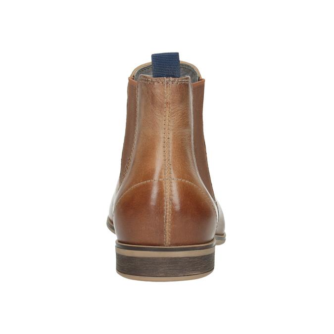 Skórzane botki damskie typu chelsea bata, brązowy, 596-3684 - 16