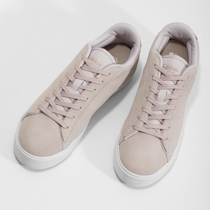 Różowe zamszowe trampki adidas, różowy, 503-2554 - 16