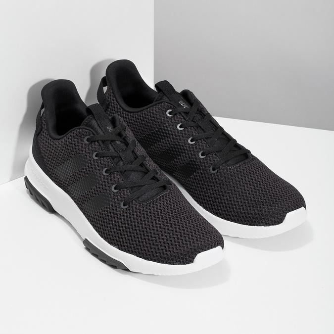 Czarne trampki męskie wsportowym stylu adidas, czarny, 809-6101 - 26