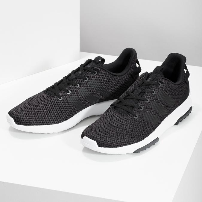 Czarne trampki męskie wsportowym stylu adidas, czarny, 809-6101 - 16