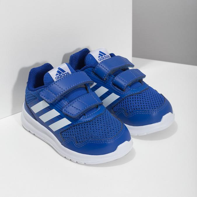 Niebieskie trampki dziecięce adidas, niebieski, 109-9147 - 26