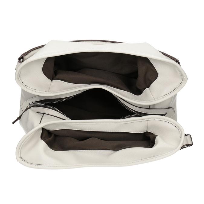 Biała torba zzapięciem na pasek bata, biały, 961-1681 - 15
