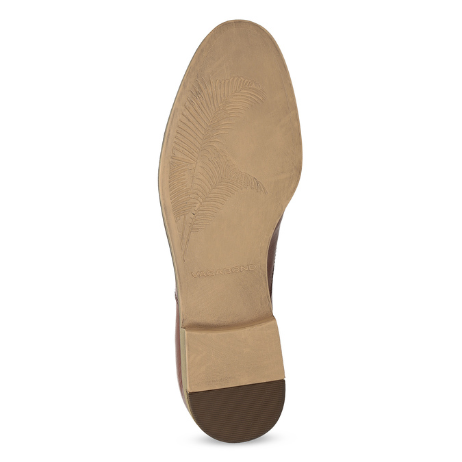 Brązowe skórzane oxfordy męskie vagabond, brązowy, 824-3048 - 18