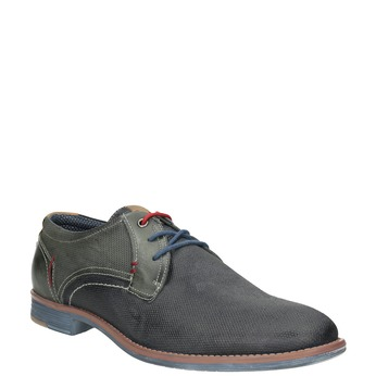 Skórzane półbuty zfakturą bata, 826-9928 - 13