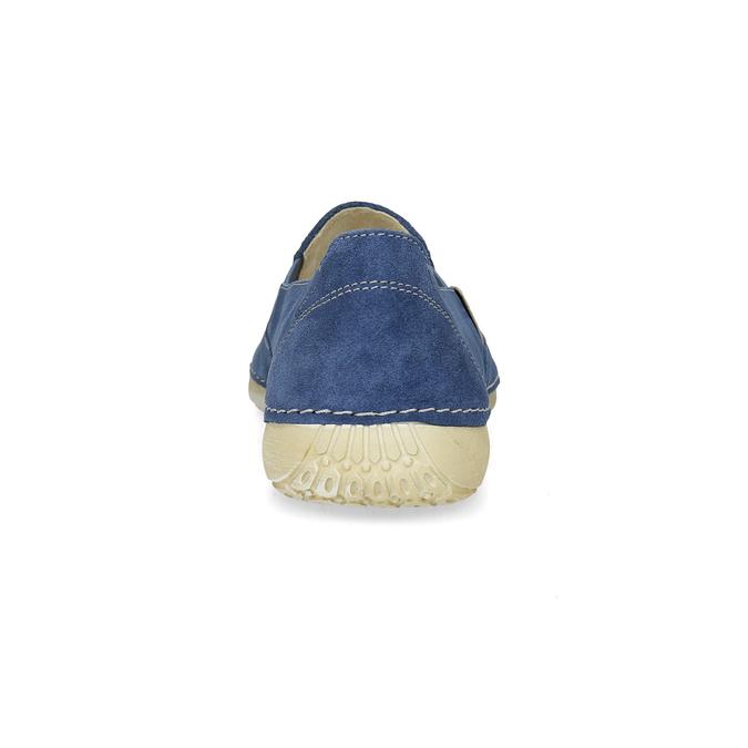 Niebieskie skórzane slip-on damskie weinbrenner, 536-9606 - 15