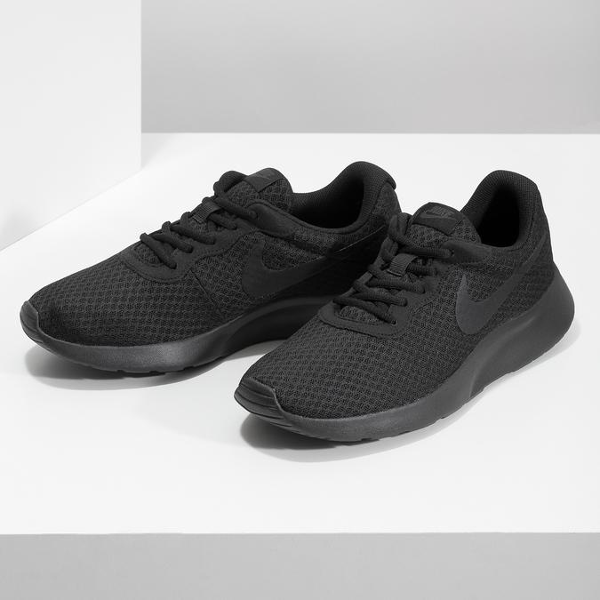 Czarne trampki męskie wsportowym stylu nike, czarny, 809-0557 - 16