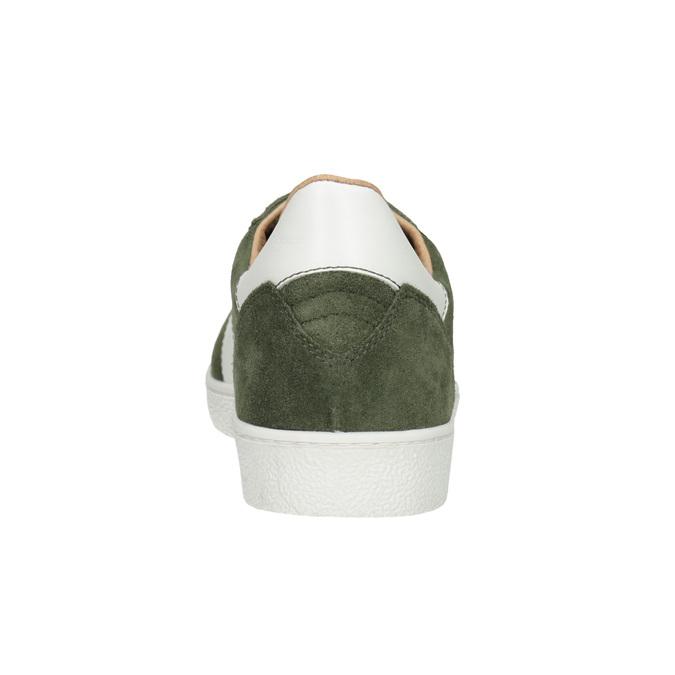 Skórzane trampki męskie wkolorze khaki, khaki, 803-7850 - 16